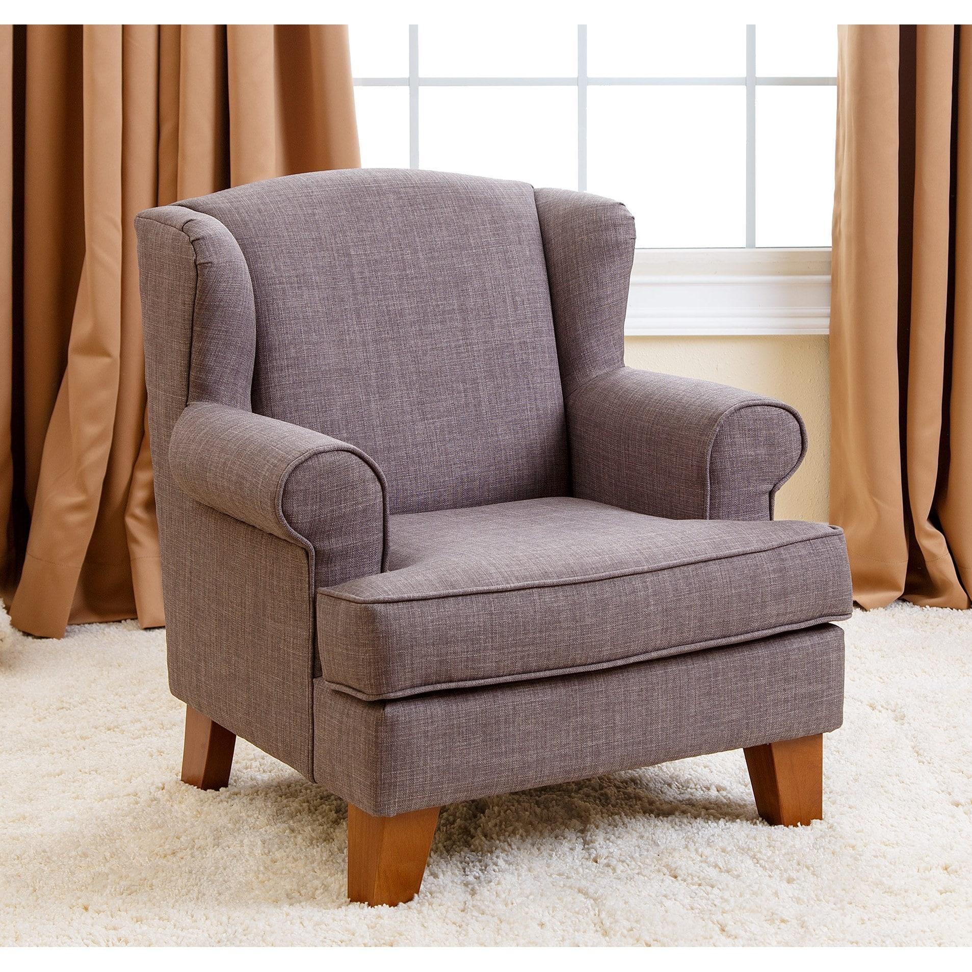Merveilleux Shop Abbyson Kids Lorraine Wingback Grey Mini Chair   Free Shipping Today    Overstock.com   10562527