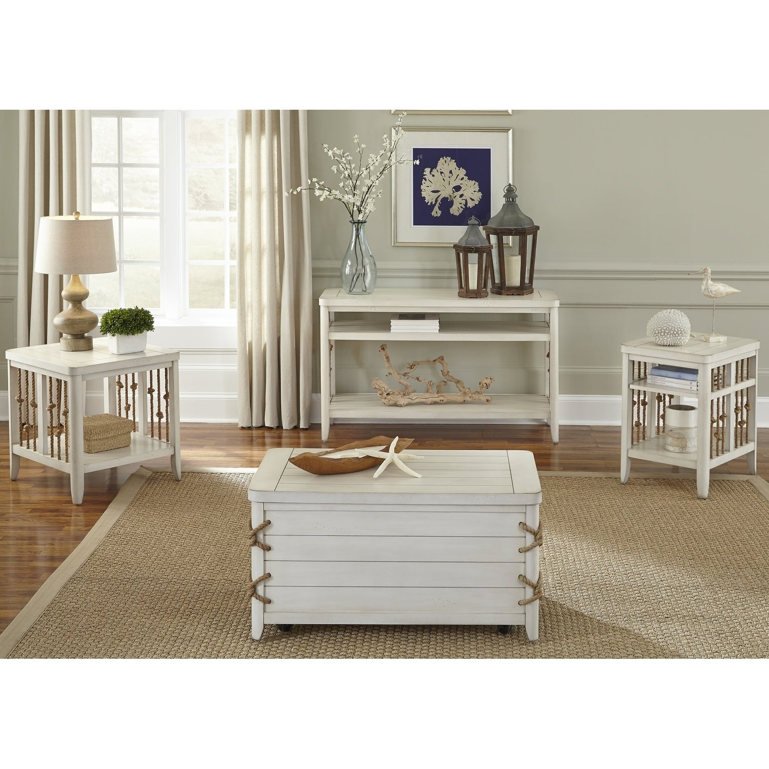 Shop Dockside II White Storage Trunk   Free Shipping Today   Overstock.com    10562546
