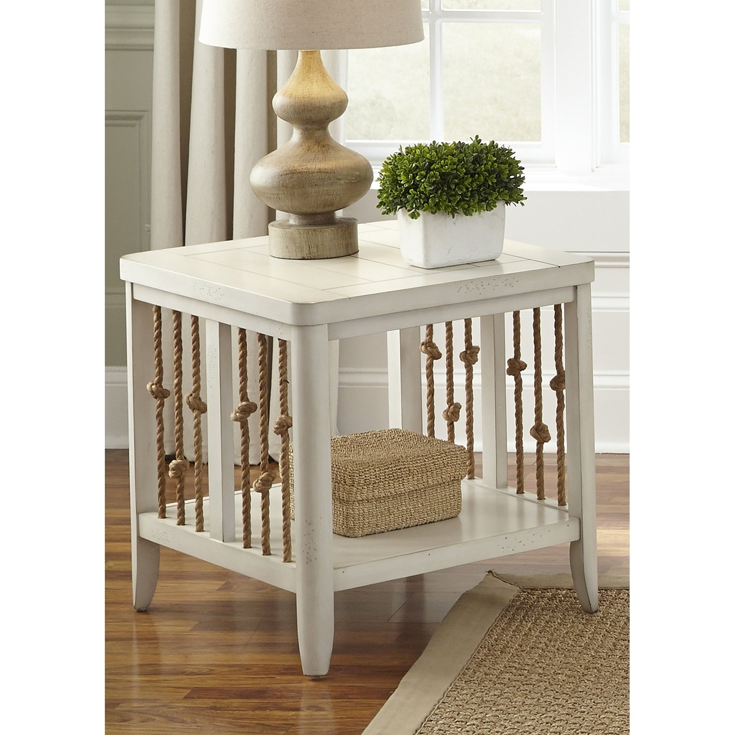 Shop Dockside Ii White End Table On Sale Free Shipping Today