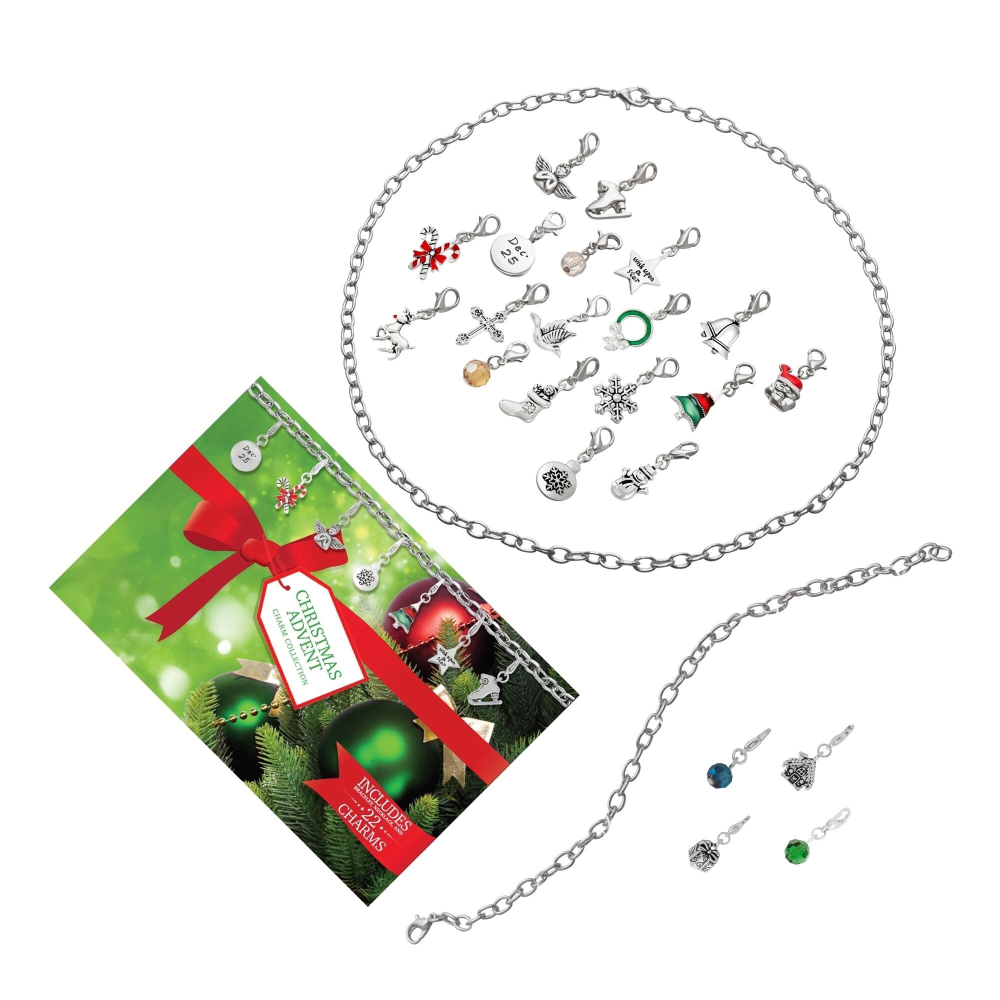 Shop Christmas Advent Calendar Charm Jewelry Gift Set - Free ...