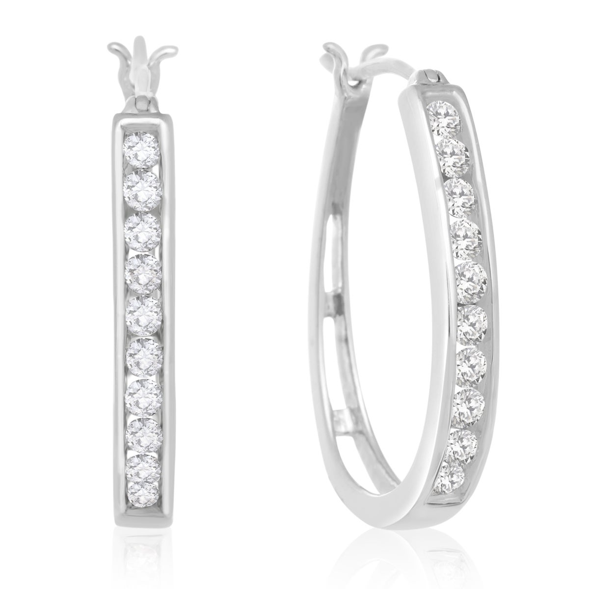 real carat sterling silver llc img hudson kim products zirconia timeless earrings cubic cz stud