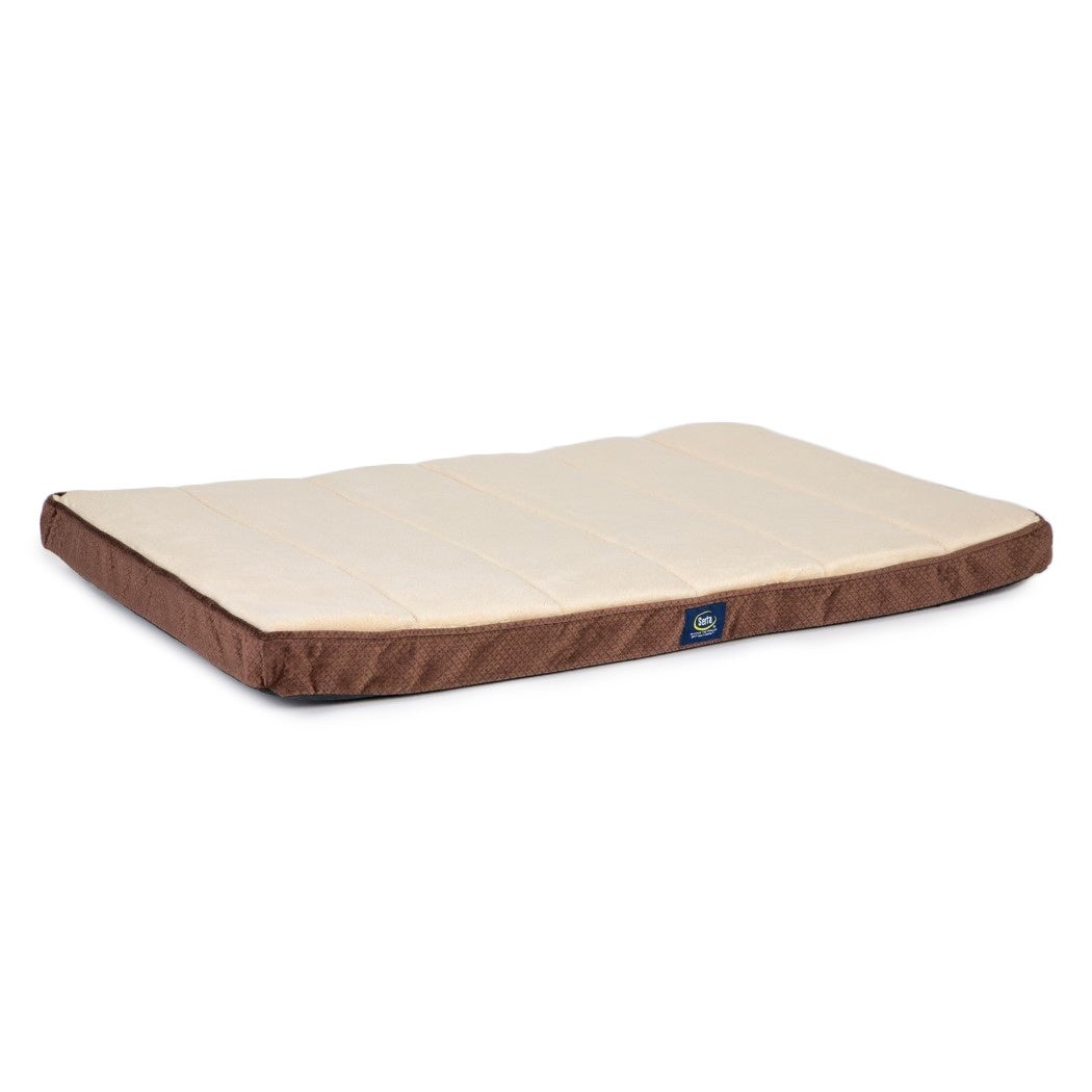 mats paw dog stripe brown drymate crate x tan mat