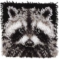 Wonderart Latch Hook Kit 12inX12inRaccoon