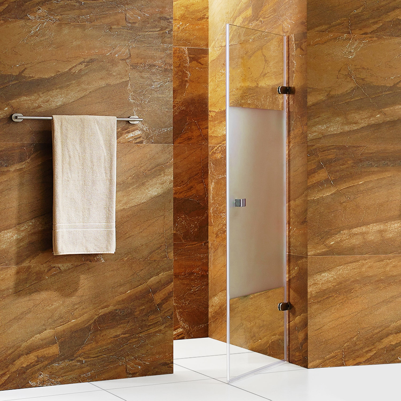 VIGO Tempo 28-inch Adjustable Frameless Shower Door with Privacy ...