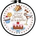 LearnACraft I'm No Quitter Stamped Cross Stitch Kit6in Round
