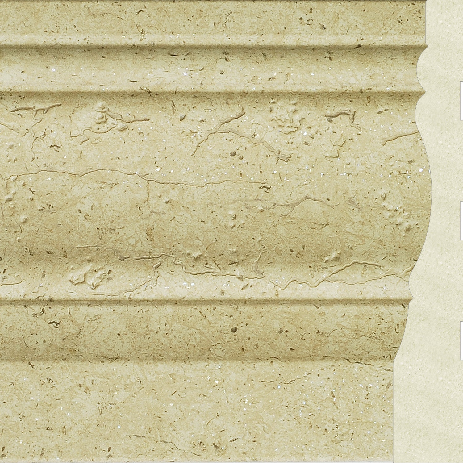Upscale Designs 72-inch Polystyrene Textured Base Moulding (10 ...