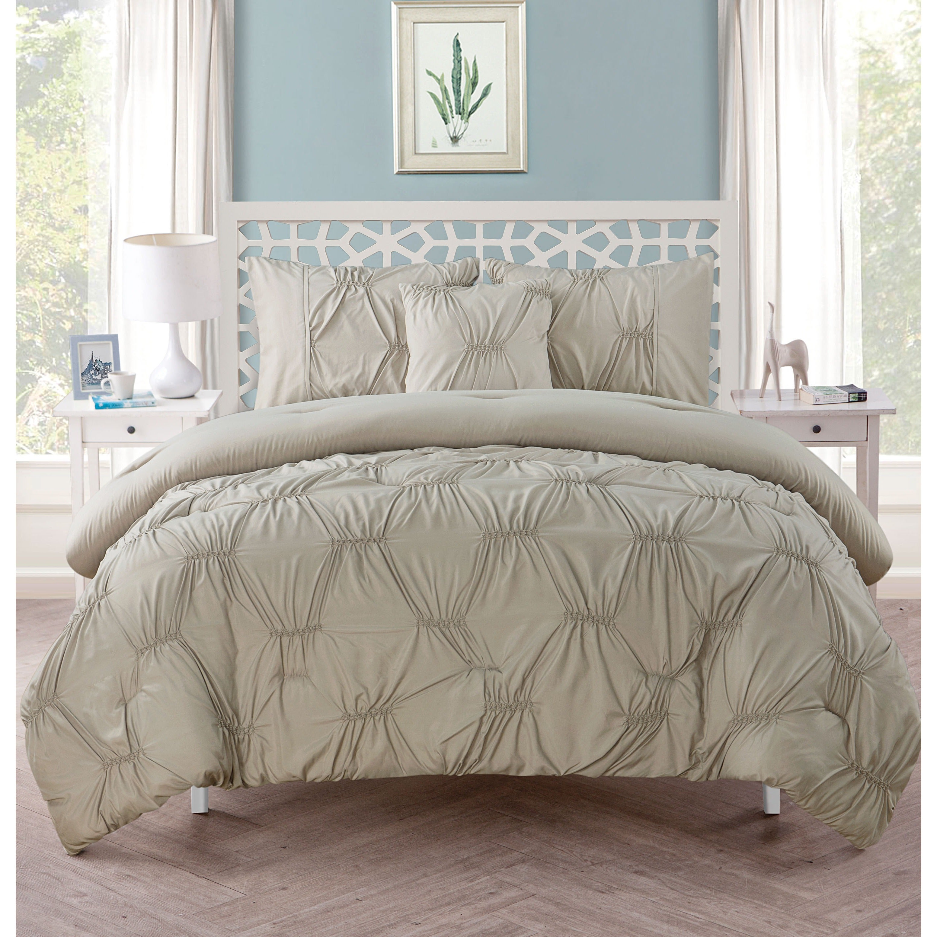 Vcny Marchella Gathered 4 Piece Comforter Set Free Shipping Today 10566971