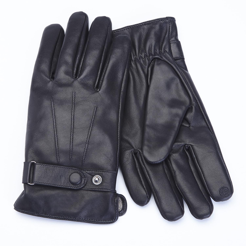 169e9df57 Royce Leather Premium Lambskin Leather Cellphone Tablet Touchscreen Gloves, Men's  Large, Black