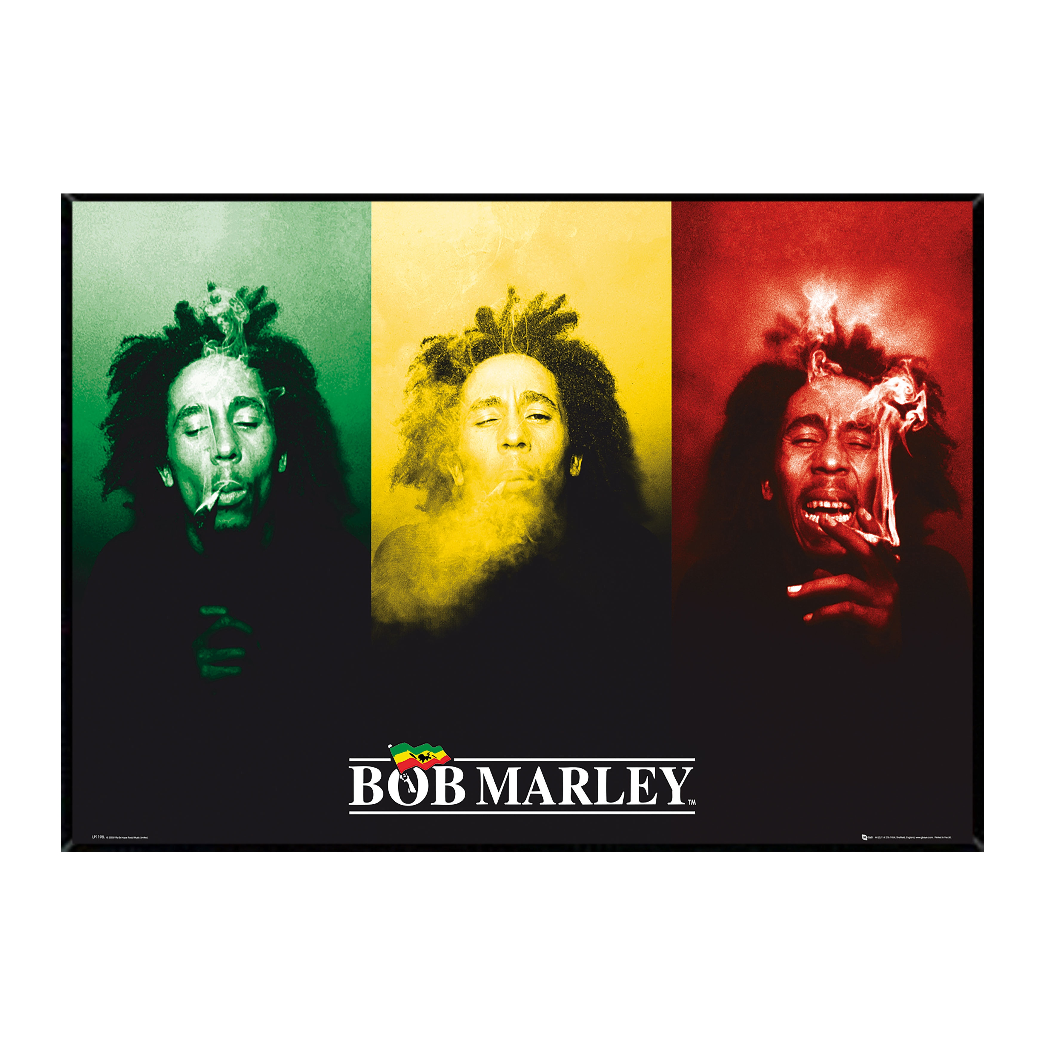 Shop Bob Marley Smoke Poster (24-inch x 36-inch) on Plaque or ...