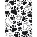 Embossing Folder 4.25inX5.75inPaw Print Background