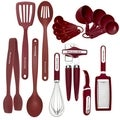 KitchenAid 17-Piece Red Tool Set