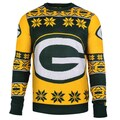 Forever Collectibles NFL Green Bay Packers Big Logo Crew Neck Ugly Sweater