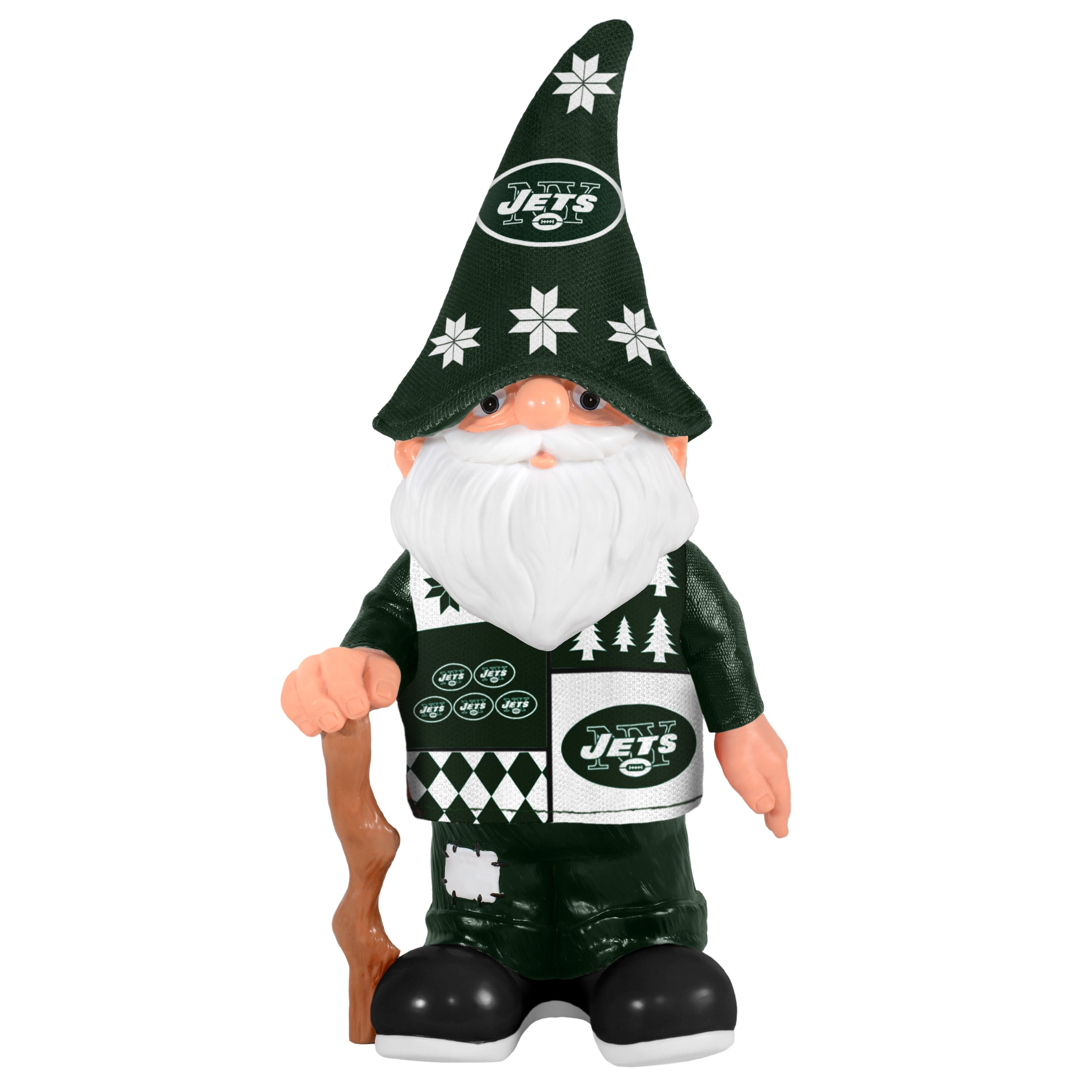 Shop Forever Collectibles New York Jets Real Ugly Sweater Gnome ...