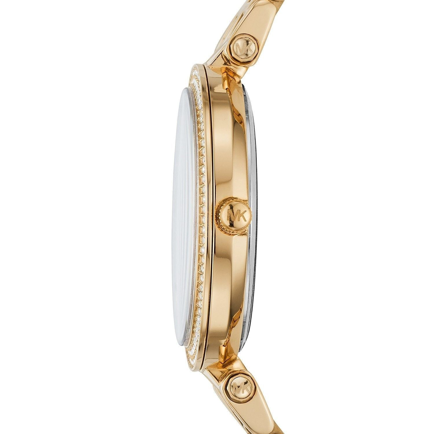 81684261d175 Shop Michael Kors Women s MK3408  Mini Darci  Crystal Gold-Tone Stainless  Steel Watch - Free Shipping Today - Overstock - 10577621