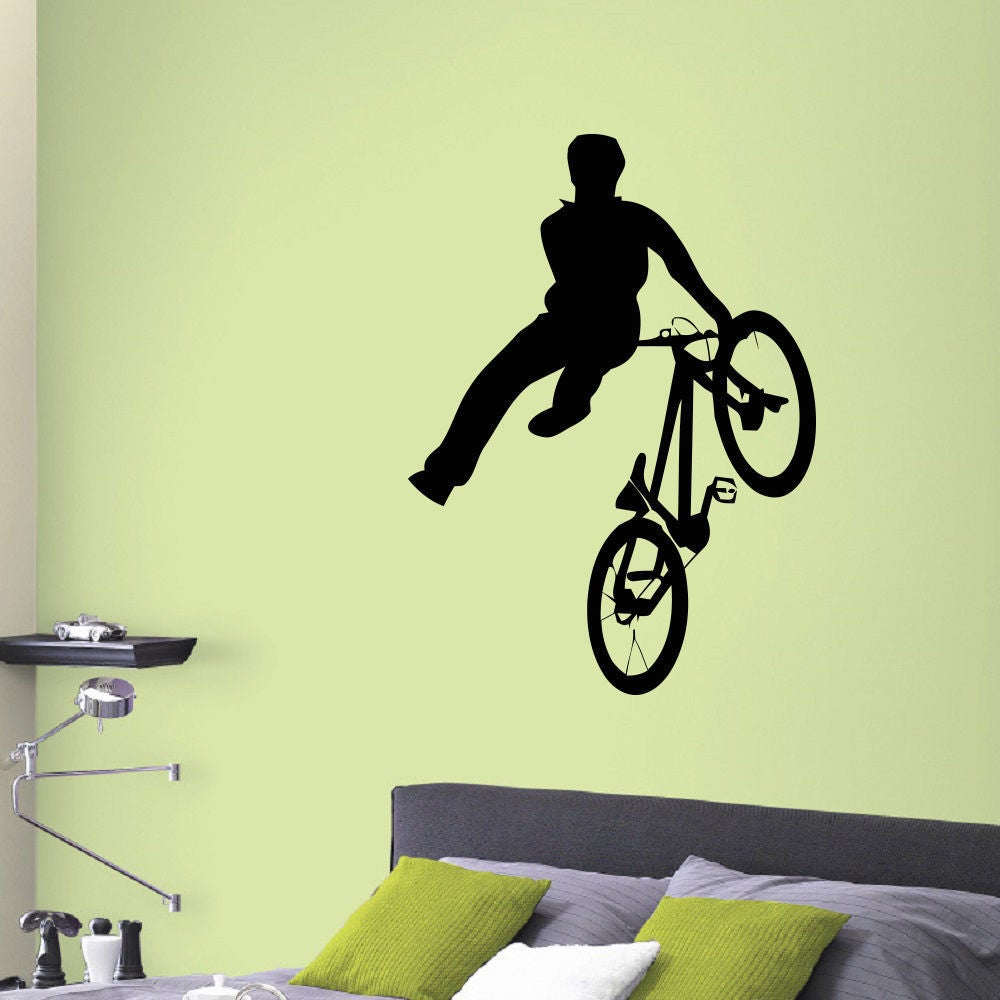 BMX Vinyl Wall Art Decal Sticker - Free Shipping On Orders Over $45 ...