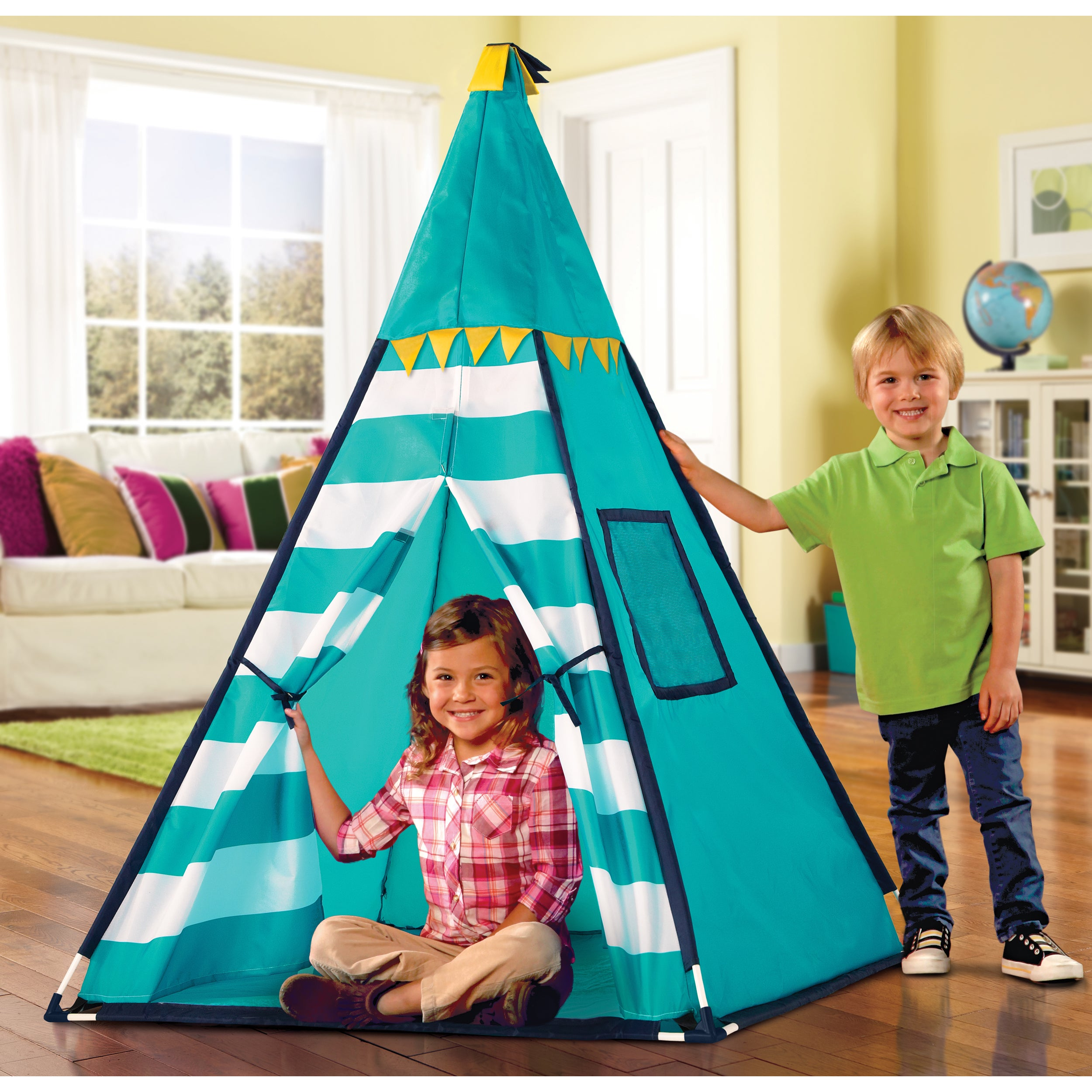 Discovery Kids Turquoise Adventure Teepee Tent Free Shipping
