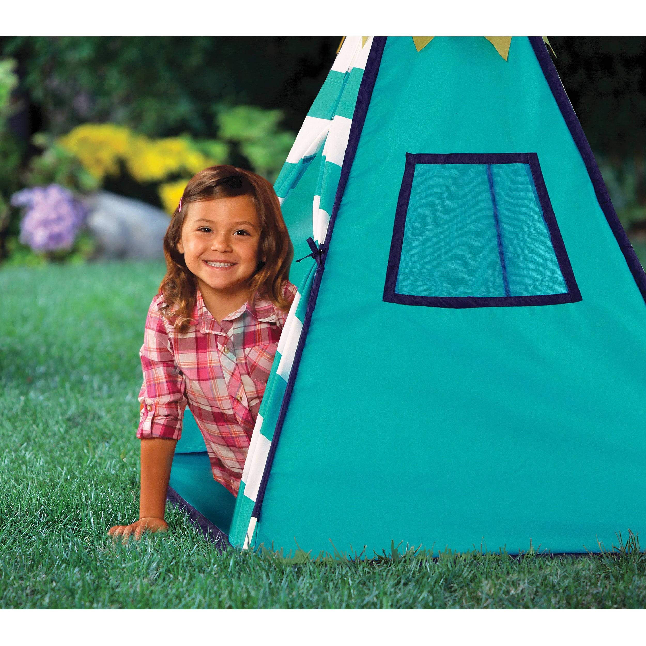 Discovery Kids Turquoise Adventure Teepee Tent - Free Shipping On Orders Over $45 - Overstock.com - 17653840  sc 1 st  Overstock.com & Discovery Kids Turquoise Adventure Teepee Tent - Free Shipping On ...