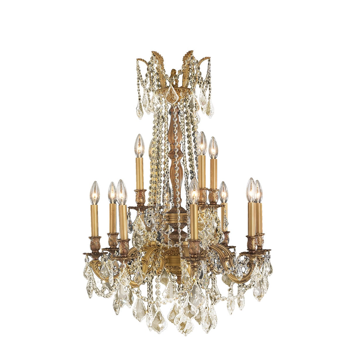 Italian elegance collection 12 light french gold finish crystal italian elegance collection 12 light french gold finish crystal ornate chandelier 24 x 36 two 2 tier free shipping today overstock 17654216 arubaitofo Choice Image