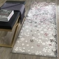 Safavieh Adirondack Vintage Floral Light Grey / Purple Rug (2'6 x 8')