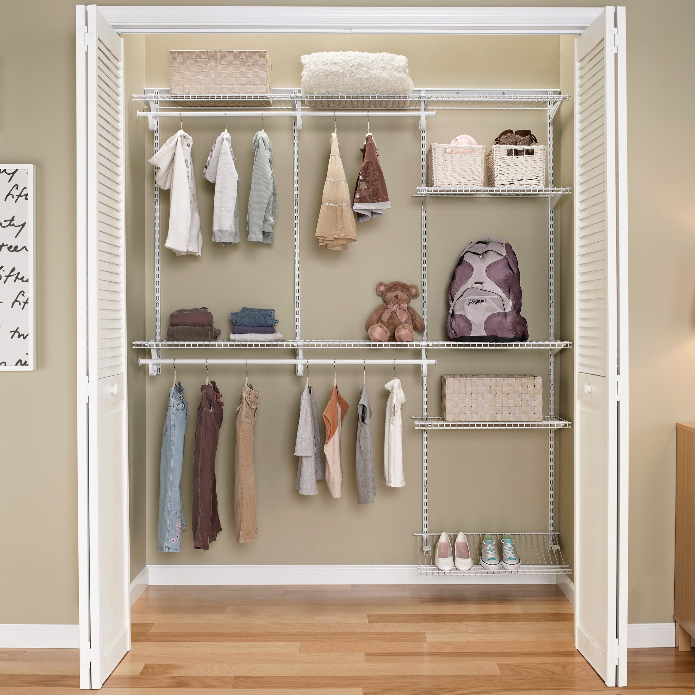 Exceptional Shop ClosetMaid ShelfTrack 5ft To 8ft Closet Organizer Kit, White   Free  Shipping Today   Overstock.com   10581832