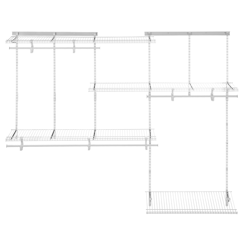Shop ClosetMaid ShelfTrack 5ft To 8ft Closet Organizer Kit, White   Free  Shipping Today   Overstock.com   10581832