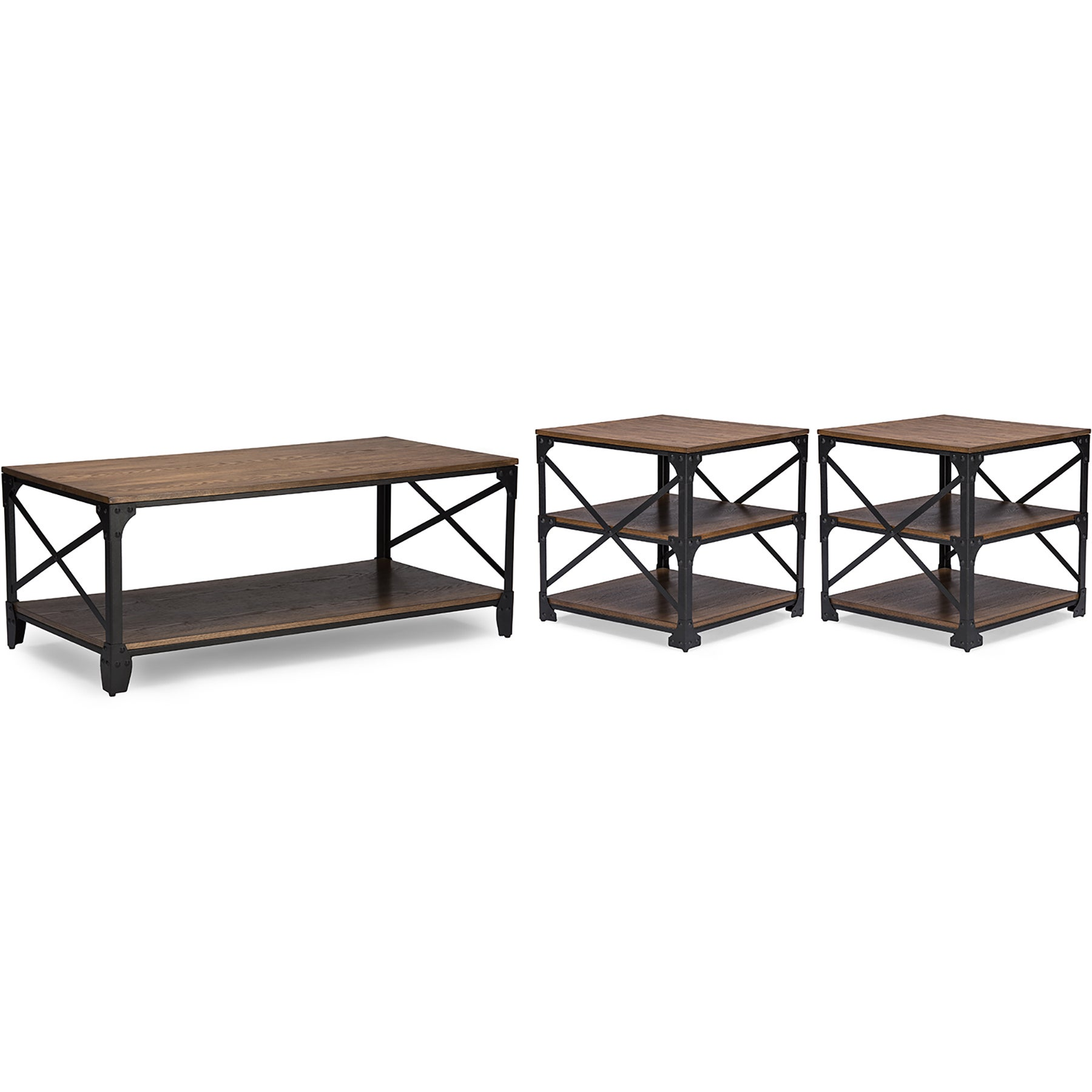 Charmant Shop Greyson Vintage Industrial Antique Bronze Round Coffee Cocktail Table  And End Tables 3 Piece Occasional Table Set   Free Shipping Today    Overstock.com ...