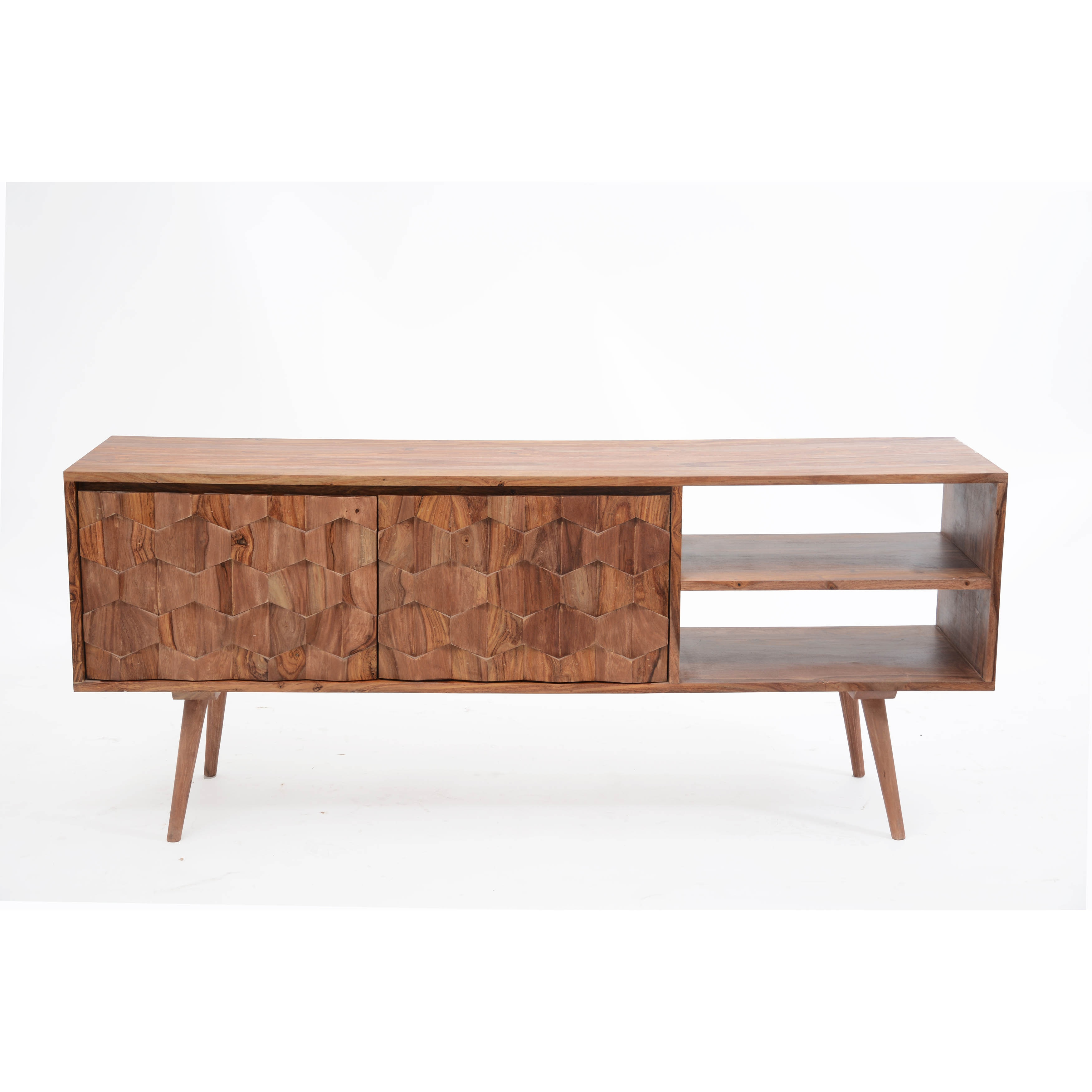 Aurelle Home Mid Century Modern Tv Media Console Free Shipping Today 10583791