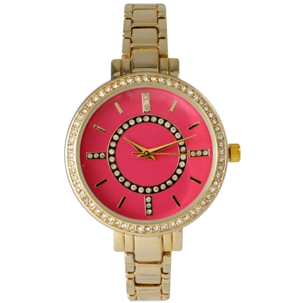Shop Olivia Pratt Women's Classic Crystal Metal Skinny Bracelet Watch - Free Shipping On Orders Over $45 - Overstock - 10584205