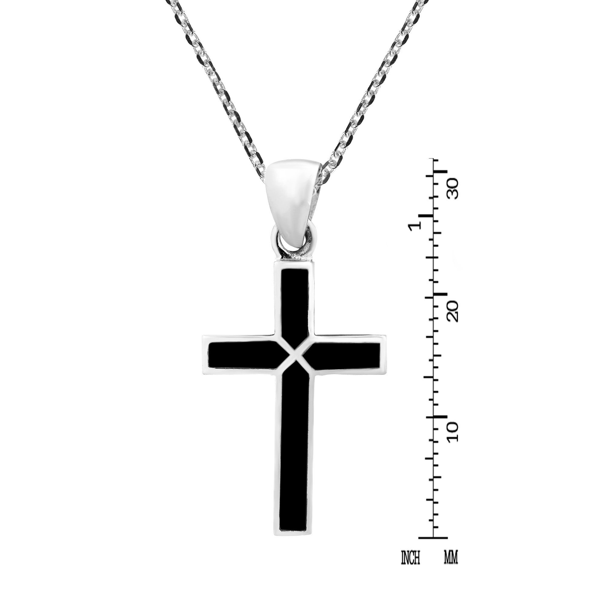 f1978e617 Shop Handmade Cross of Faith Inlaid Sterling Silver Necklace (Thailand) - On  Sale - Free Shipping On Orders Over $45 - Overstock - 10584484