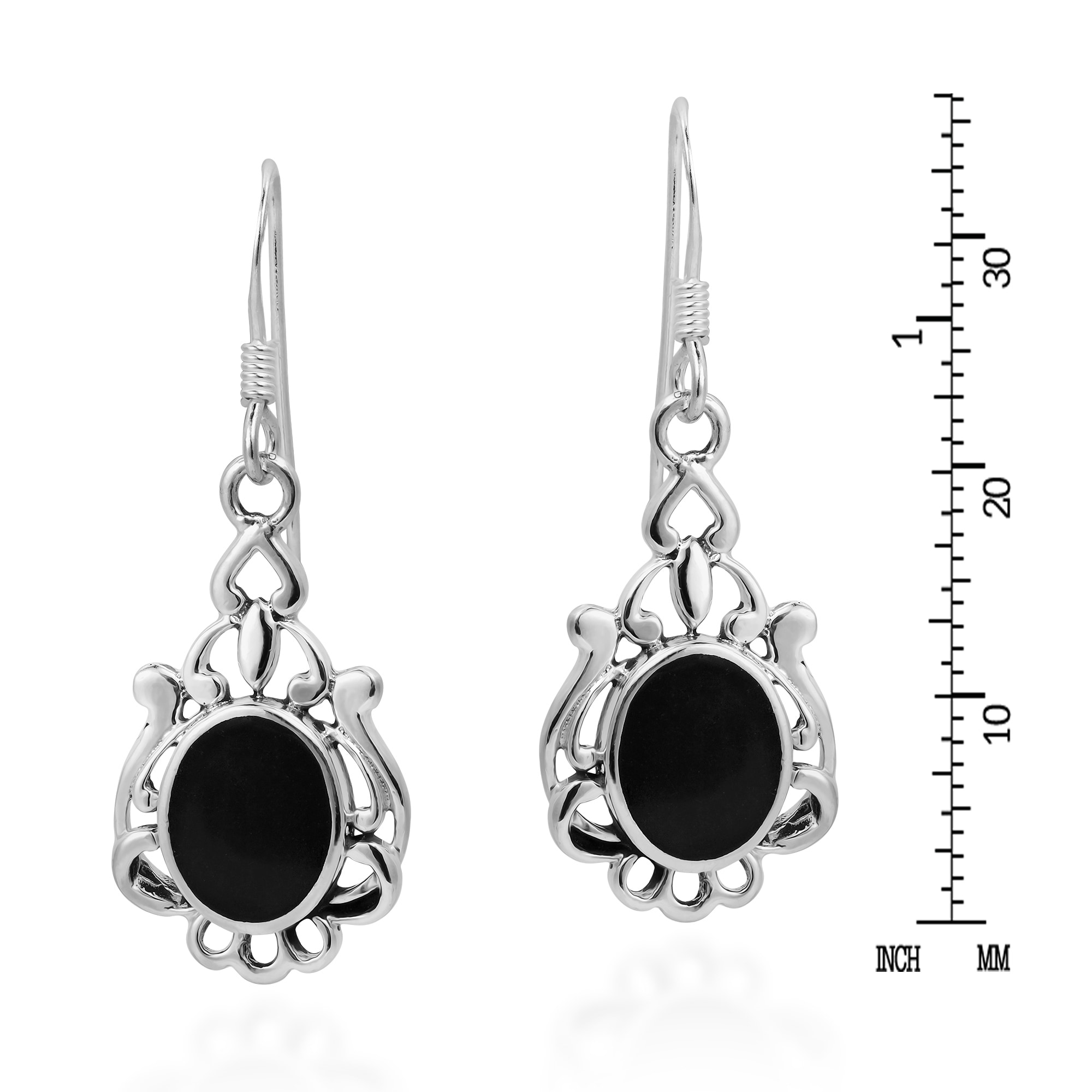 Handmade Vintage Style Oval Stone 925 Sterling Silver Earrings Thailand On Free Shipping Orders Over 45 10584488
