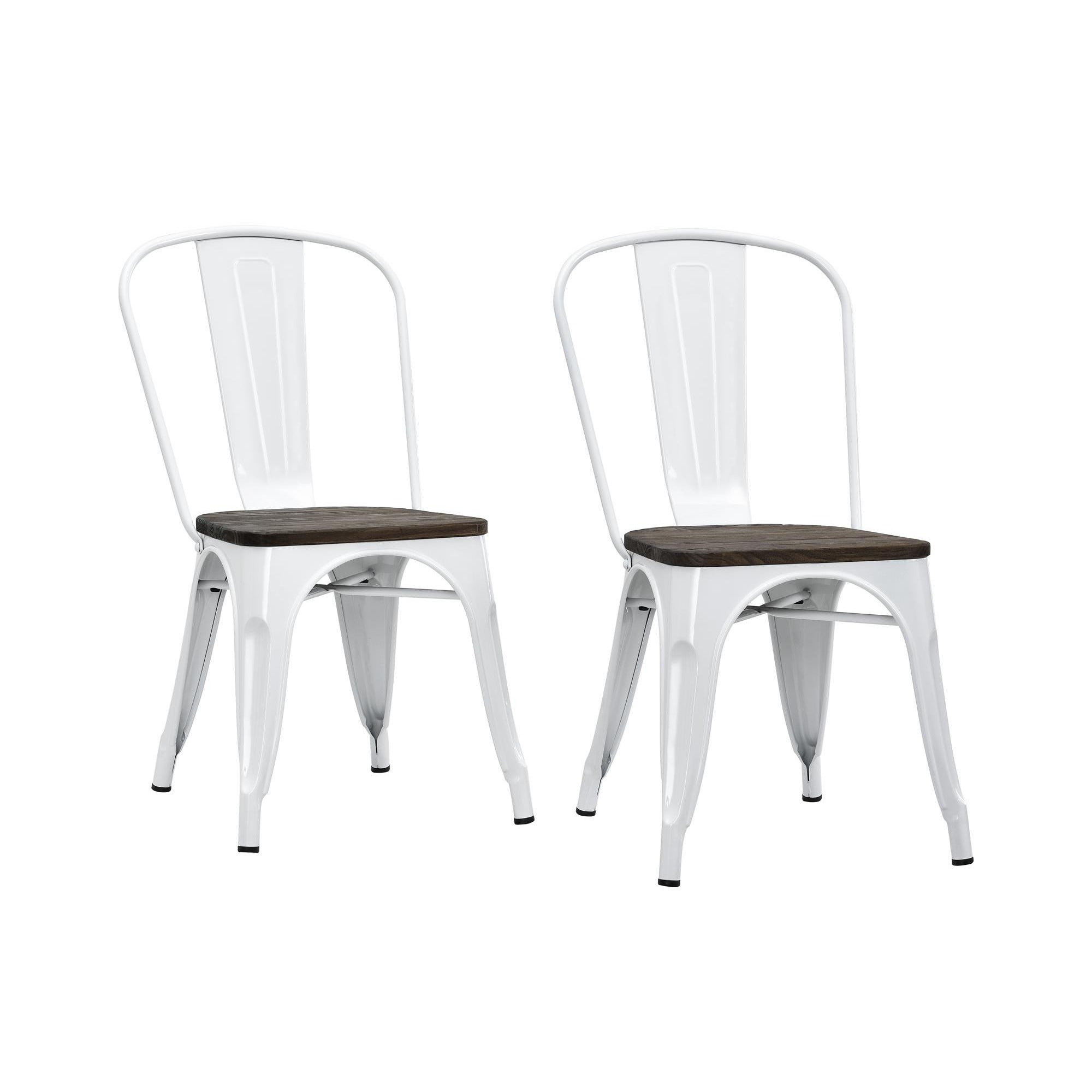 Dhp Fusion Metal Dining Chair Set Of 2 Free Shipping Today  # Muebles Fuzion Santa Rosa