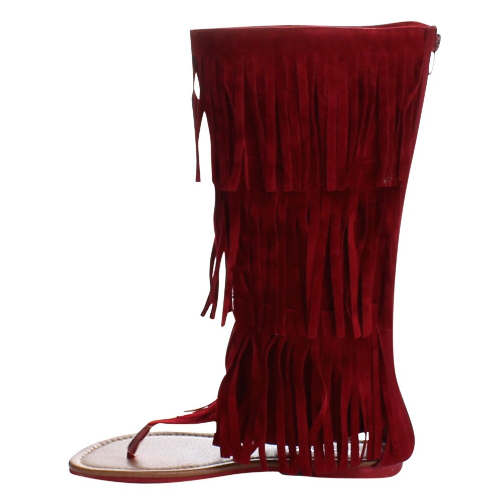 d2cb0454ef23 Shop FOREVER ANIKA-66 Women s Sassy Fringe Falt Thong Sandals - Free  Shipping On Orders Over  45 - Overstock - 10585071