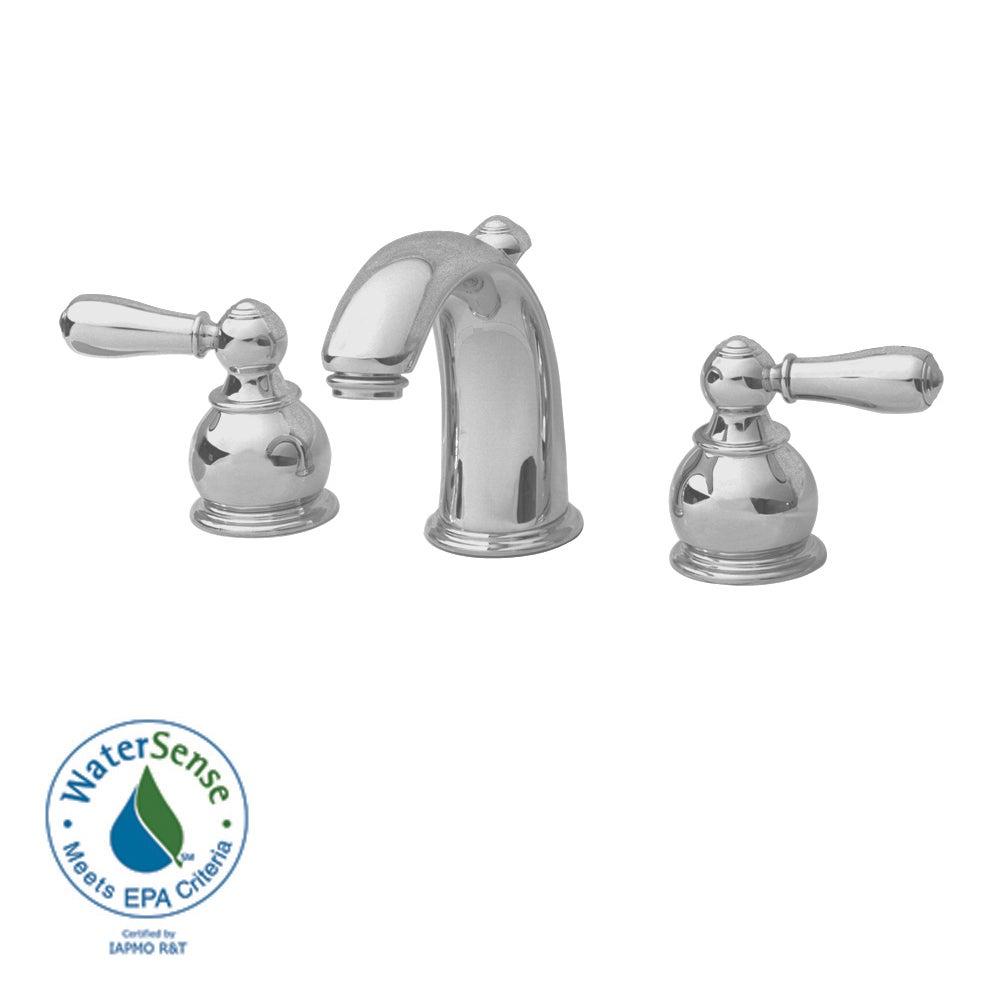 American Standard Hampton Widespread Bathroom Sink Faucet - Silver ...
