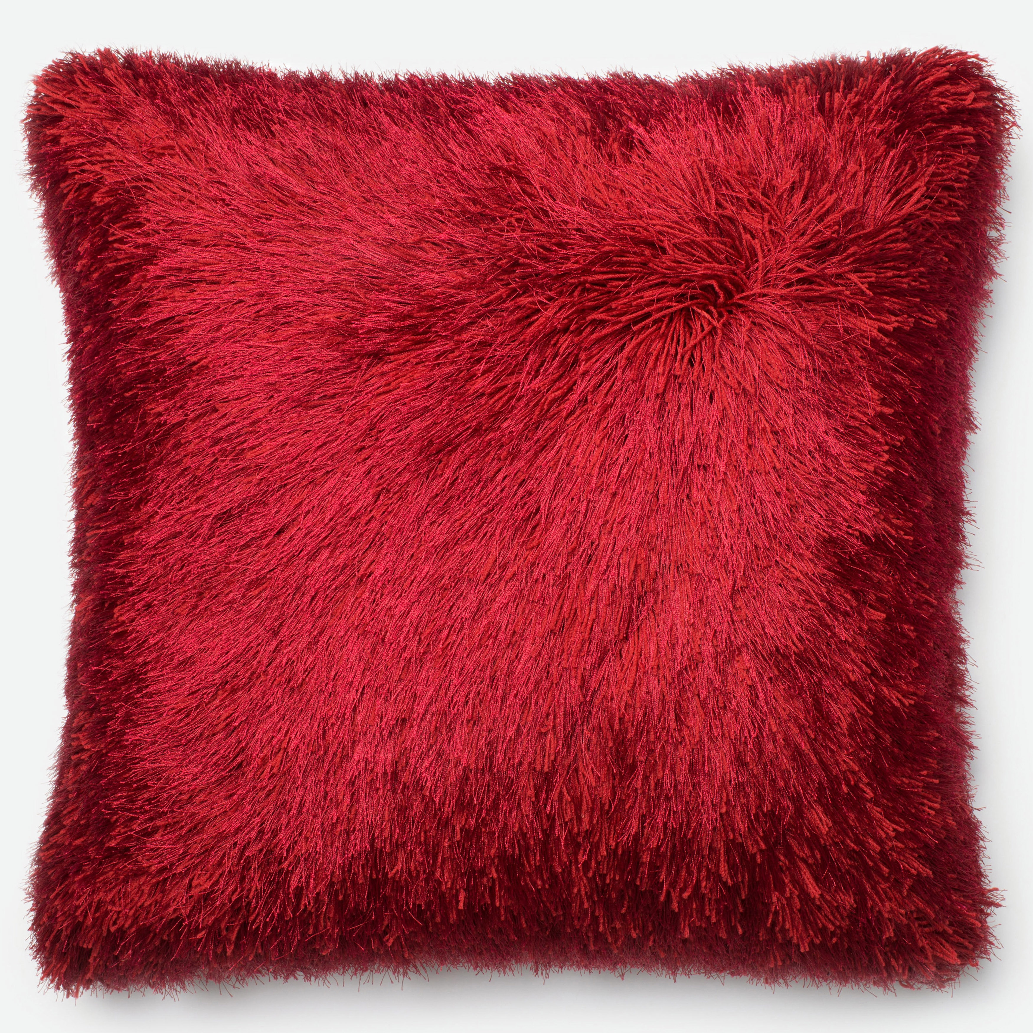 Luxe Solid Shag Down Feather or Polyester Filled 22-inch Throw Pillow or  Pillow Cover - Free Shipping Today - Overstock.com - 17660622