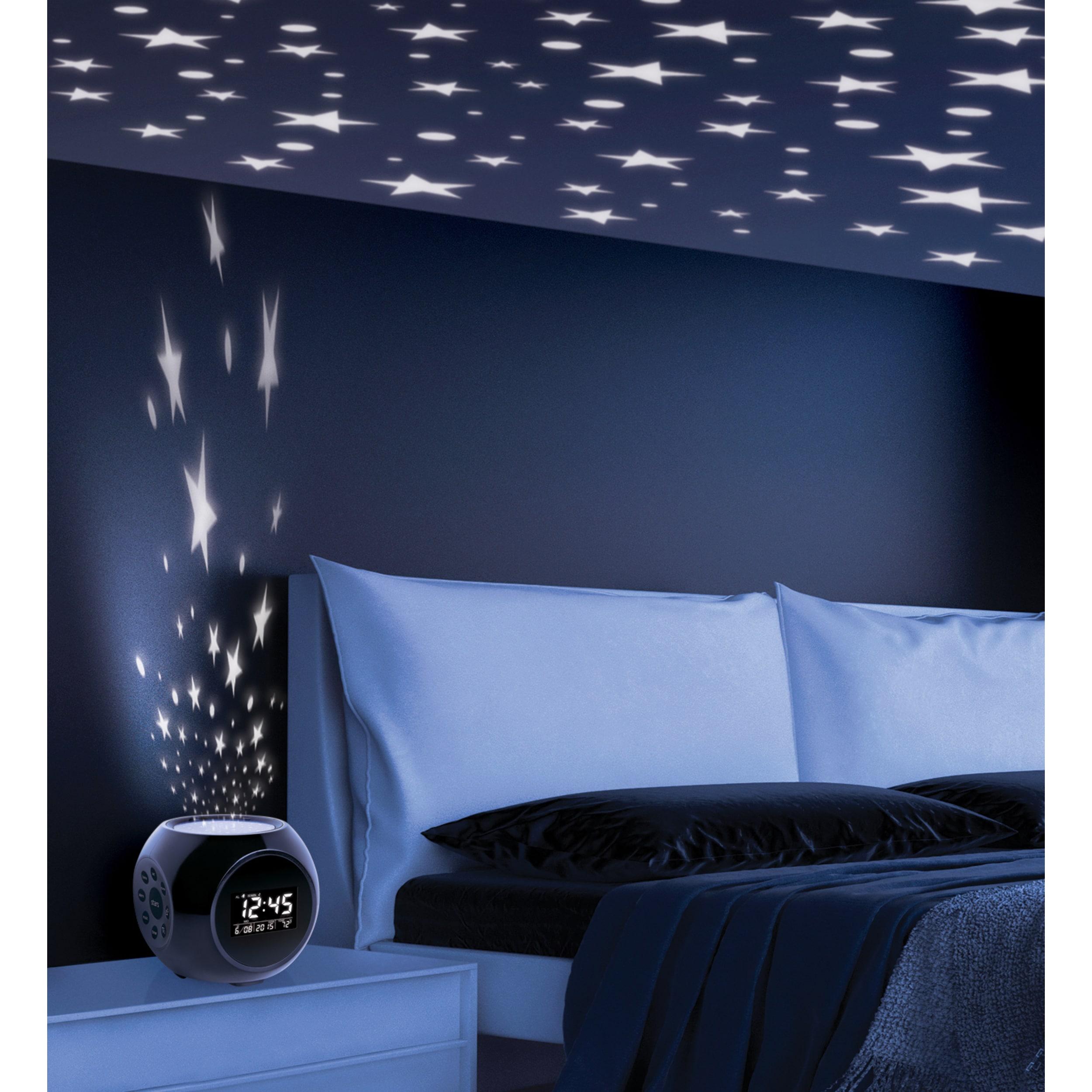 Shop Sharper Image Sound Machine Projection Alarm Clock Free