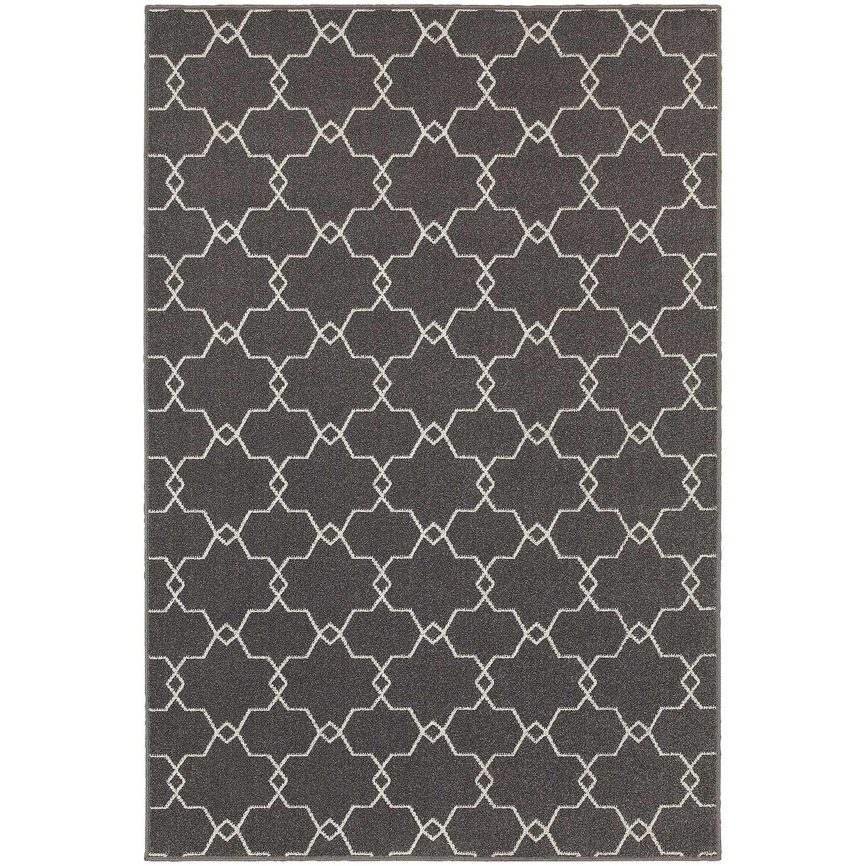 Shop Stylehaven Geometric Trellis Grey Ivory Indoor Outdoor Area Rug