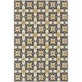 StyleHaven Panel Grey/Gold Indoor-Outdoor Area Rug (7'10x10'10)