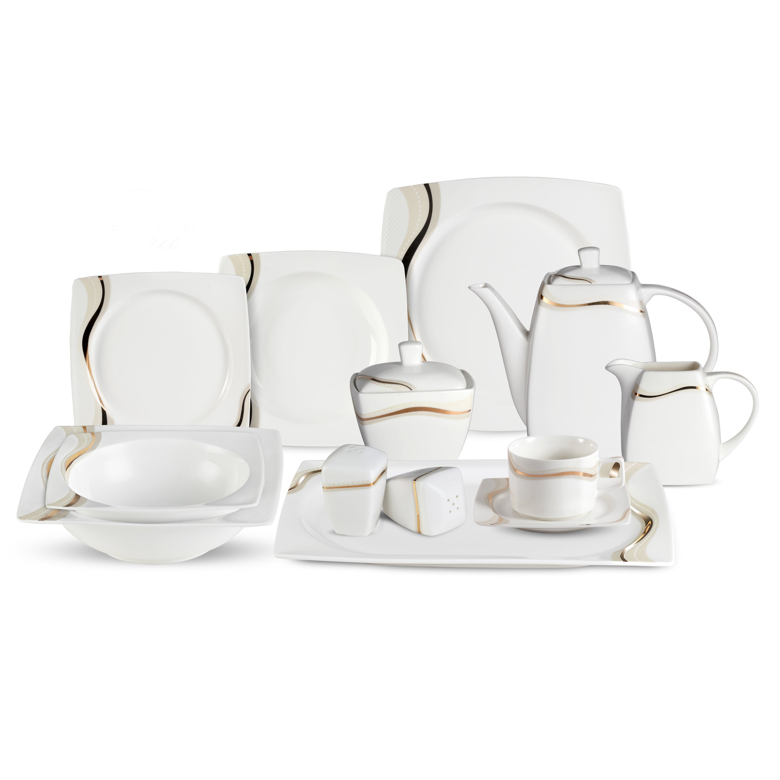 Lorren Home Trend Dora 57-Piece Bone China Dinnerware Set (Service for 8) - Free Shipping Today - Overstock - 17661895  sc 1 st  Overstock.com & Lorren Home Trend Dora 57-Piece Bone China Dinnerware Set (Service ...