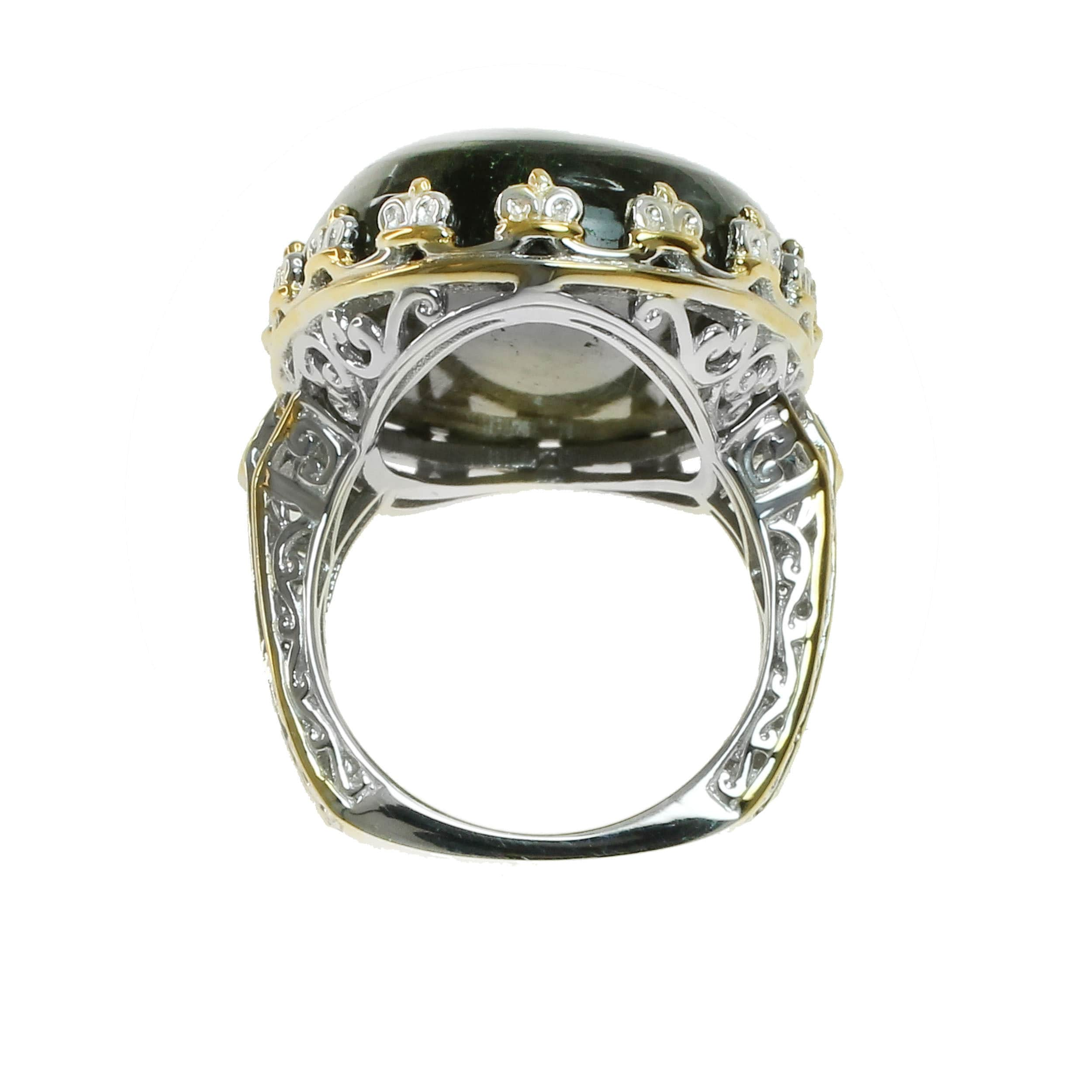 gold artcarved diamond setting sandy month in rings tw white