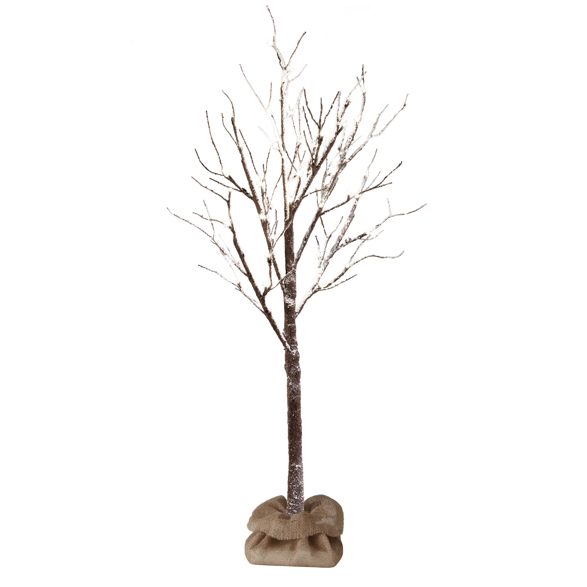 Apothecary & Company Decorative 4ft LED Snow Tree with Burlap Sack - Free  Shipping Today - Overstock.com - 17665155
