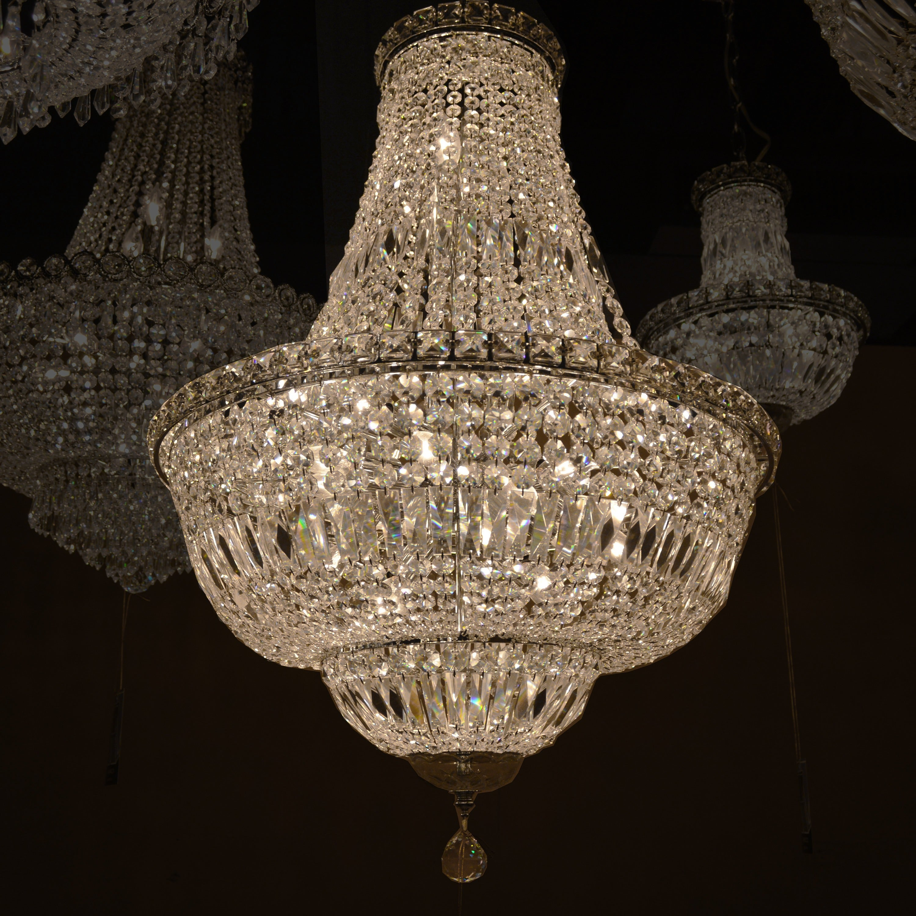 French Empire Collection 15 light Chrome Finish and Clear Crystal