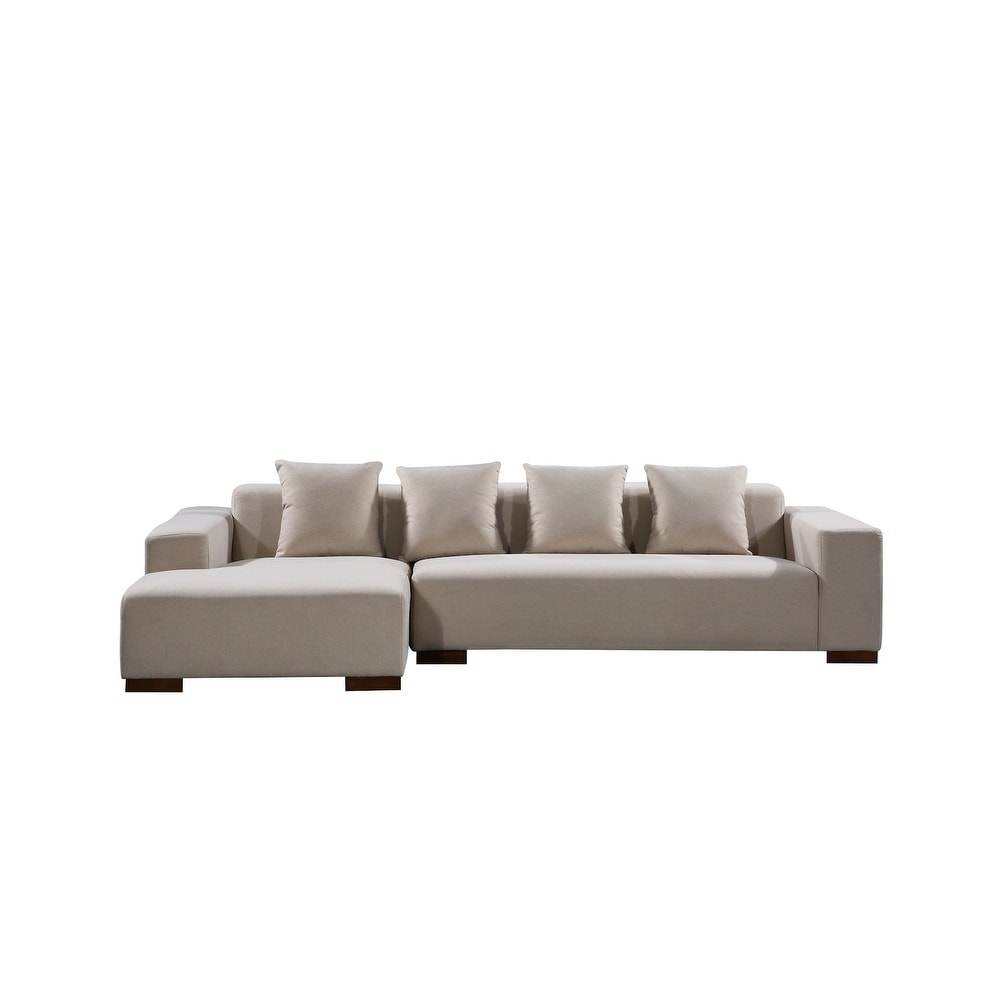 Modern Fabric Sectional Sofa Lyon On Free Shipping Today 10591960