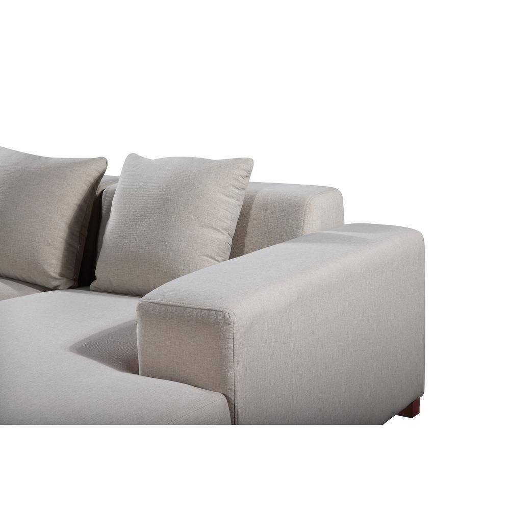 shop modern fabric sectional sofa lyon on sale free shipping rh overstock com Modern Sectional Sofa Designs Grey Fabric Modern Sectional Sofa