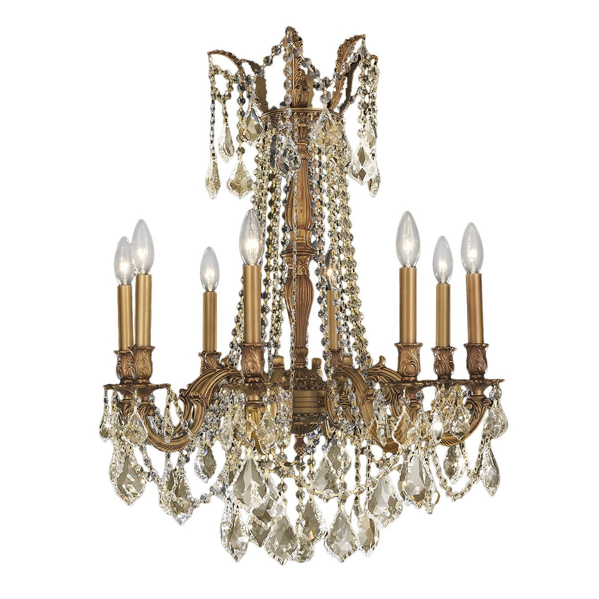 Italian elegance collection 8 light french gold finish and golden italian elegance collection 8 light french gold finish and golden teak crystal ornate chandelier 24 free shipping today overstock 17666245 arubaitofo Gallery