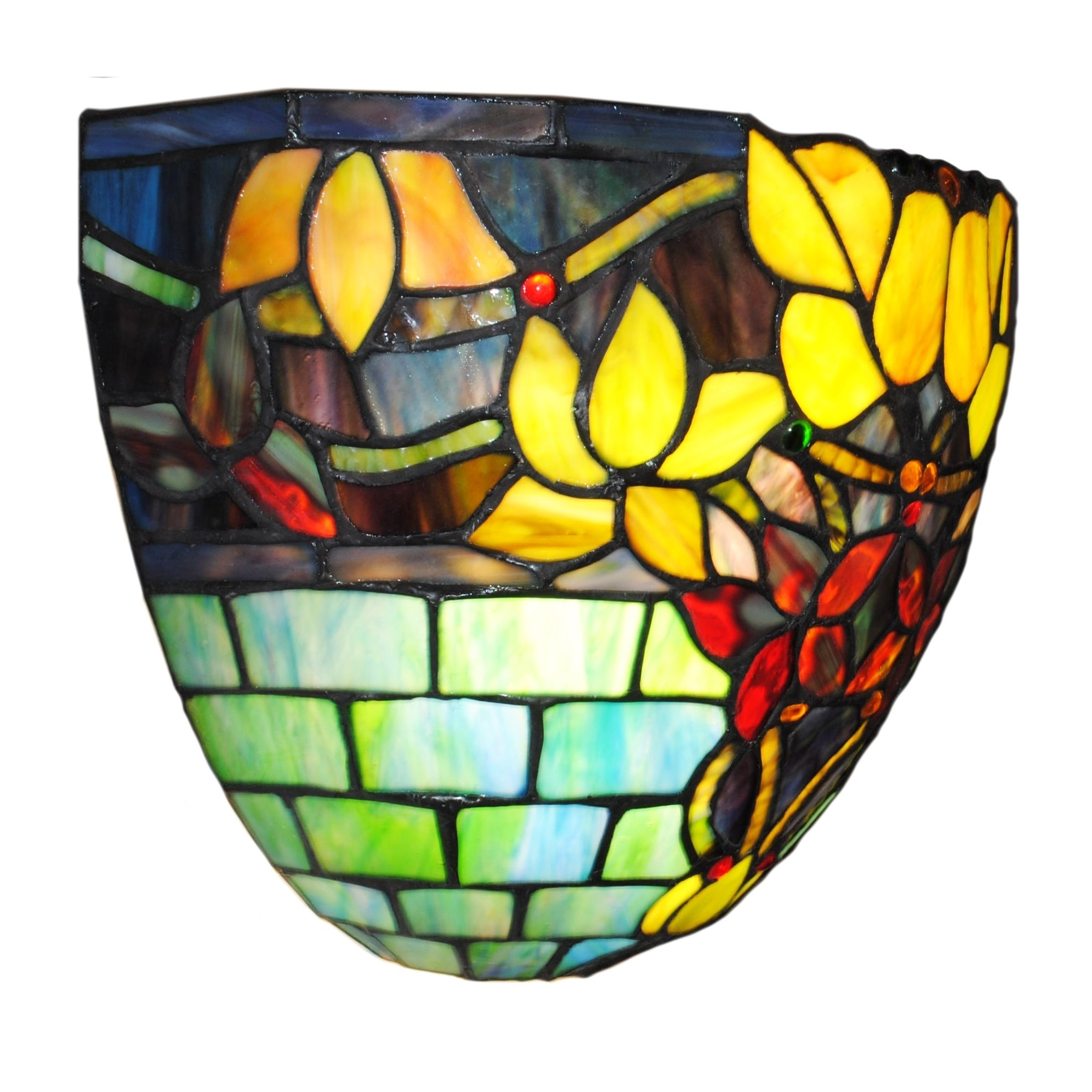 sconce art panels stunning wall stained glass