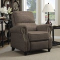 ProLounger Brown Linen Push Back Recliner Chair