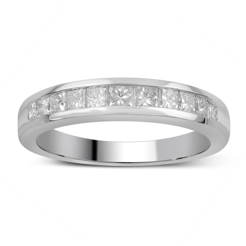 Divina 14k Gold 3 4ct Tdw Princess Cut Diamond Channel Set Wedding Band Free Shipping Today 10594886