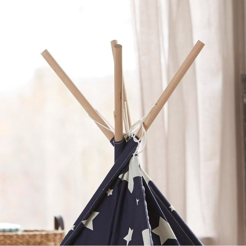 Shop Merry Products Children\'s Teepee Blue with White Stars - Free ...
