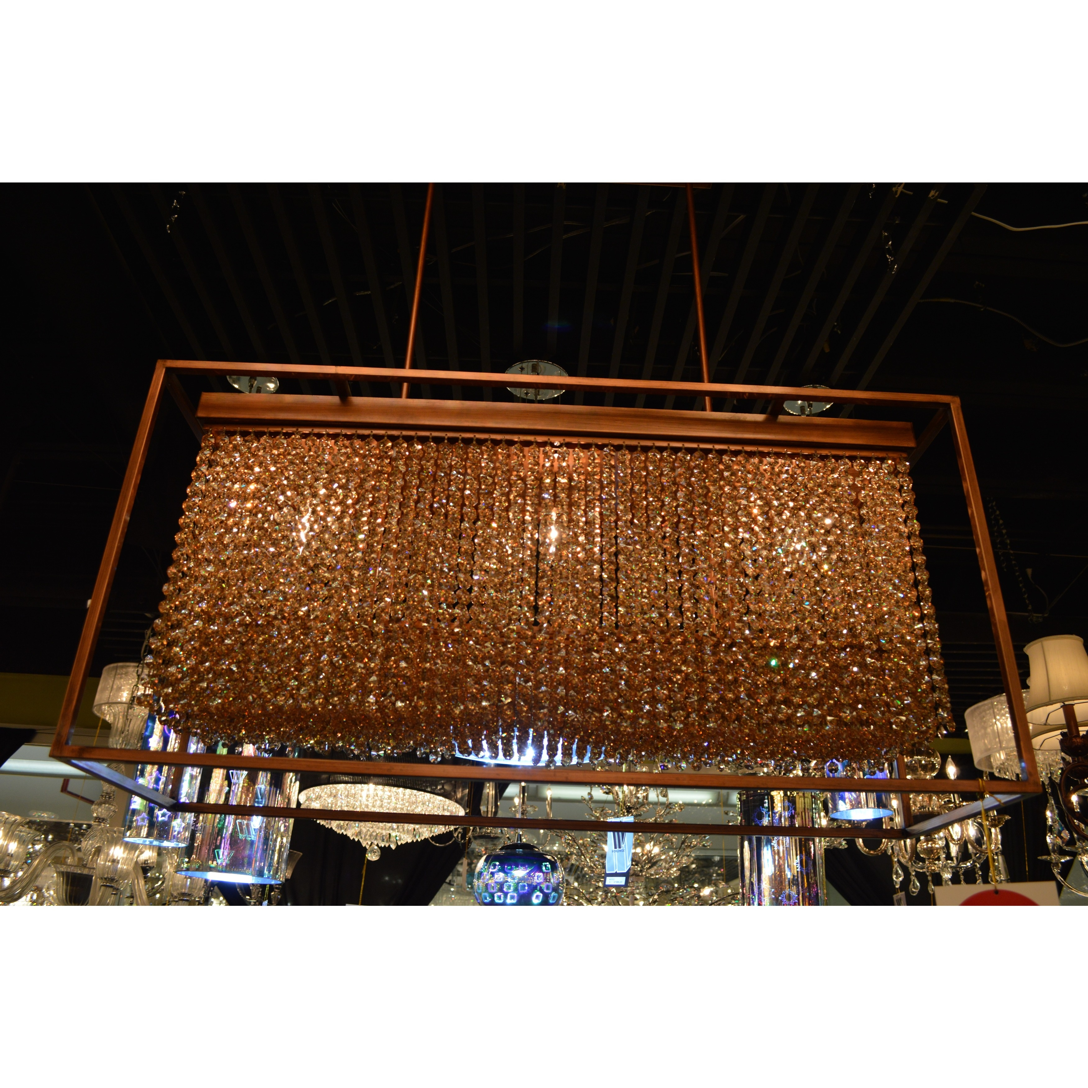 Modern industrial 3 light french gold finish and amber crystal modern industrial 3 light french gold finish and amber crystal rectangle box shade chandelier 36 l free shipping today overstock 17669962 arubaitofo Choice Image