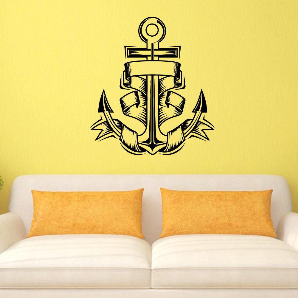 Shop Anchor Vinyl Wall Art Decal Sticker - Free Shipping On Orders ...